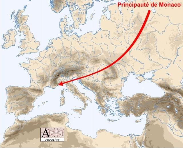 Physical Atlas of Europe the countries of Europe Monaco Monaco