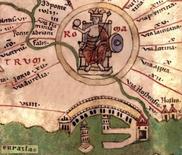 Roma: tabula peutingeriana
