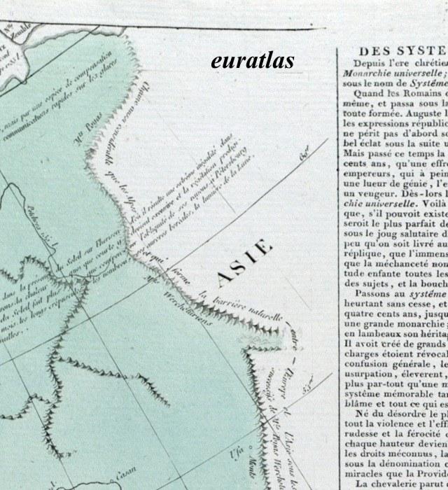 Atlas de lesage page 30 carte montrant l oural oural page entière