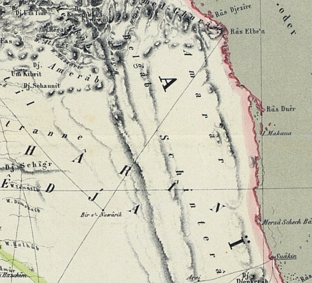 Map of the Nile Lands 1862 the Nubian Desert