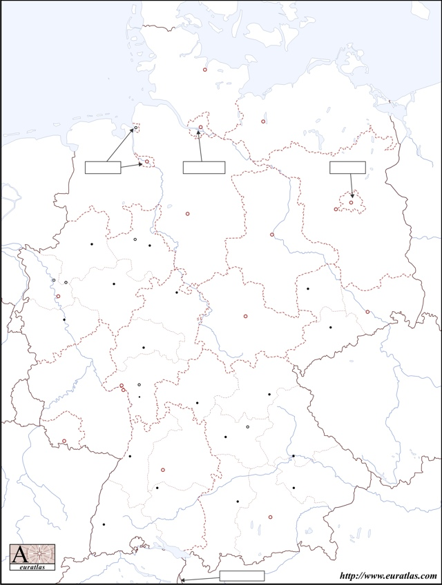 Blank Map of Germany 2008 Download in .jpg