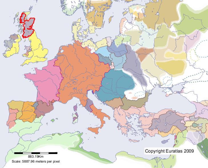 Euratlas Periodis Web   carte de Écosse en l'an 1200