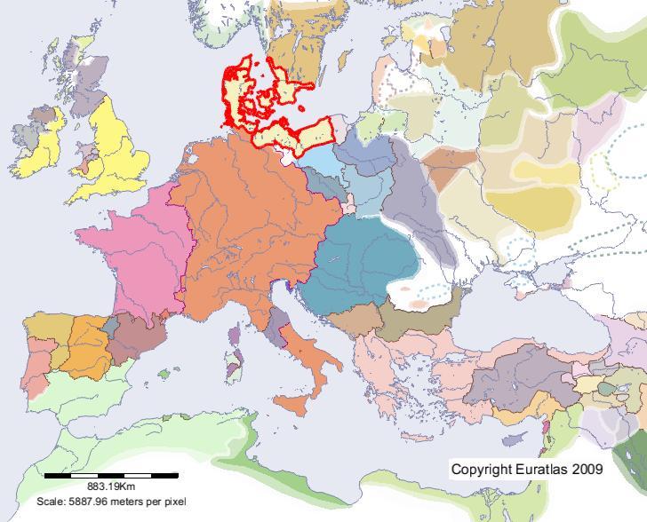 Euratlas Periodis Web   carte de Danemark en l'an 1200