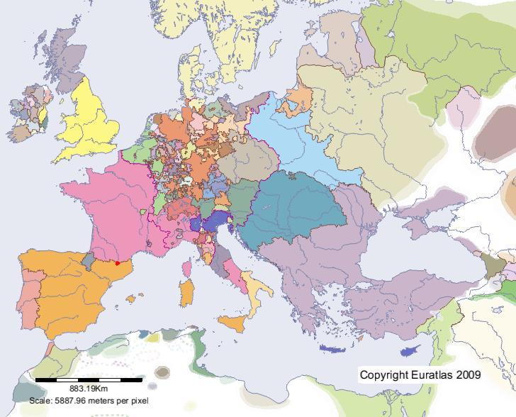 Euratlas Periodis Web - carte de Andorre en l'an 1500