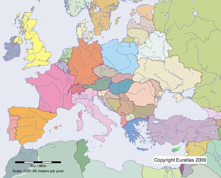 carte europe chypre