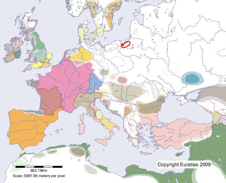 Karte von europa 700 standort von borussai