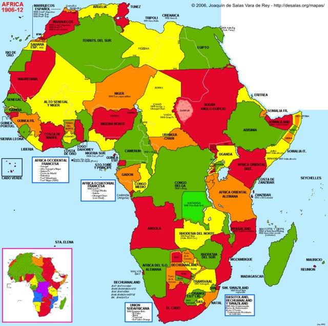 hisatlas map of africa 1912