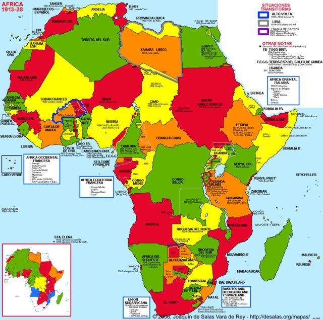 Hisatlas - Map of Africa 1938