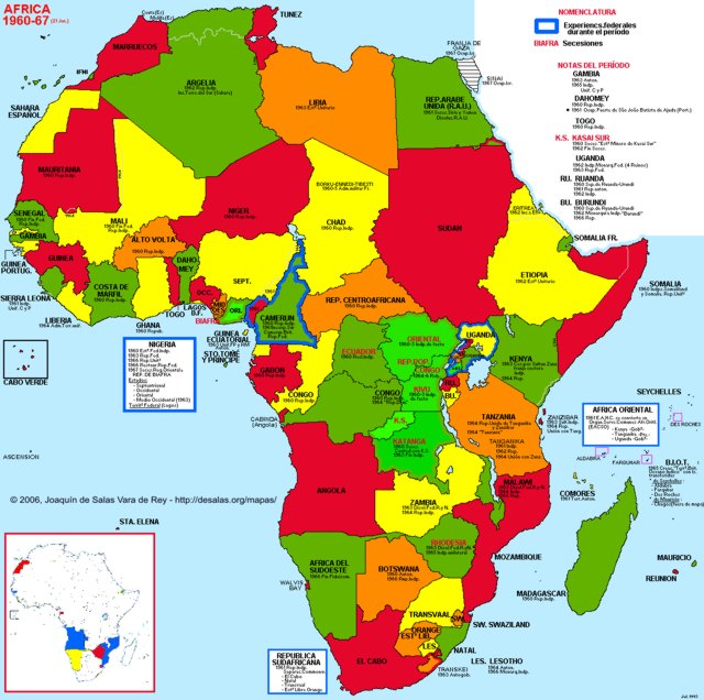 Map Of Africa 1960.1960 Map Of Africa Map Of Africa