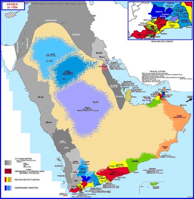 Hisatlas Map of Arabia until 1904 – Map of Arabia