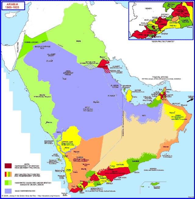Hisatlas Map of Arabia 19051923 – Map of Arabia