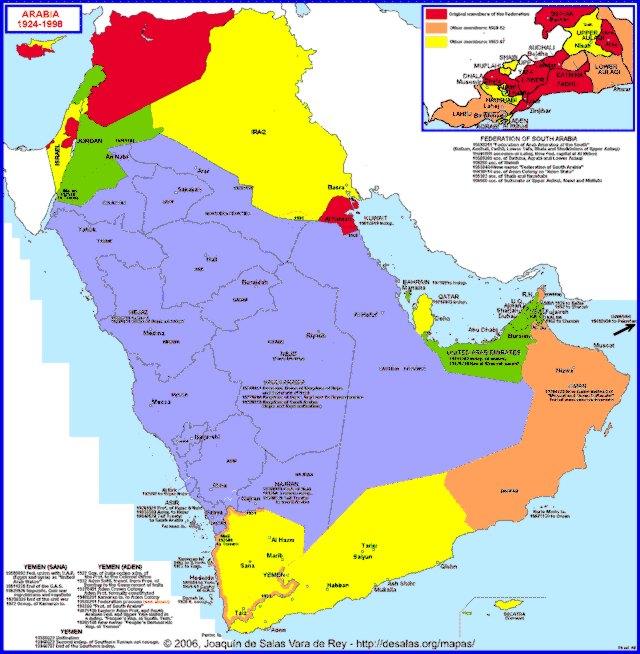 Hisatlas Map of Arabia 19241998 – Map of Arabia
