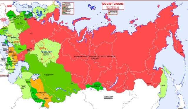 Soviet Union Cities Map