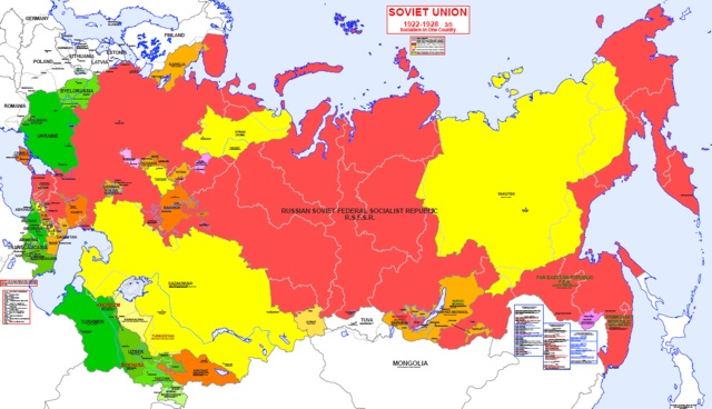 Image Gallery Map Ussr 1922