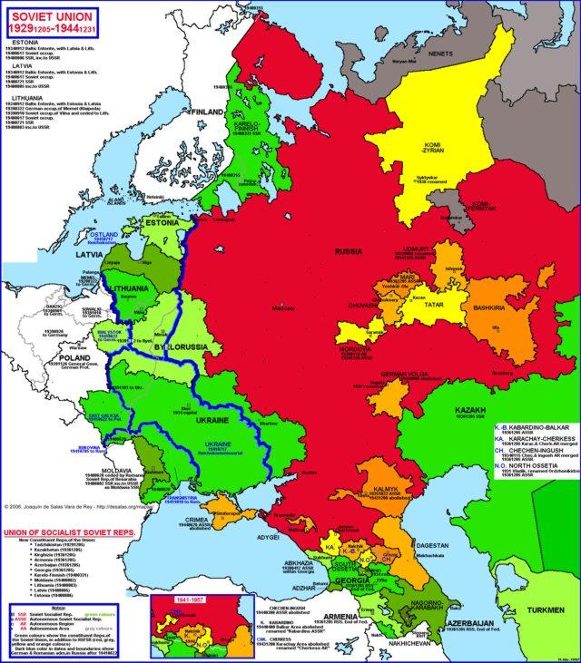 Hisatlas Map Of Soviet Union 1929 1944