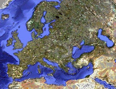 Nord dans le coin supérieur gauche
