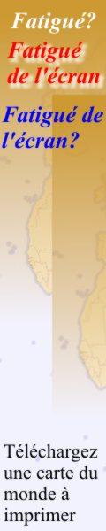 T�l�chargez une carte du monde � imprimer