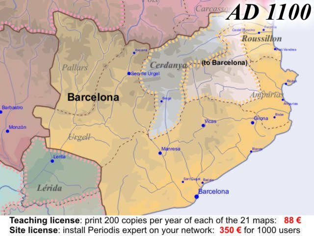 Euratlas Periodis Web Map Of Europe In Year - Barcelona map of europe