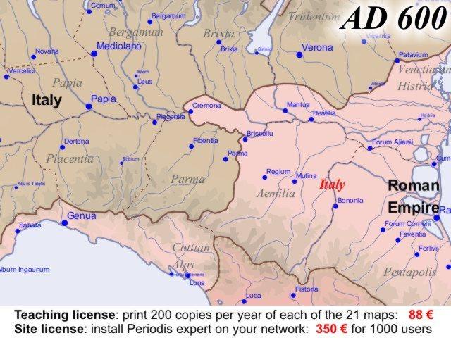 Euratlas Periodis Web  Map of Europe in Year 600