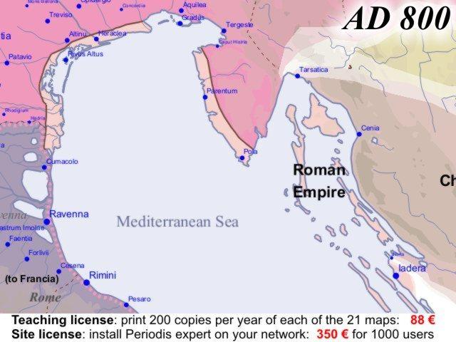 Euratlas Periodis Web  Map of Europe in Year 800