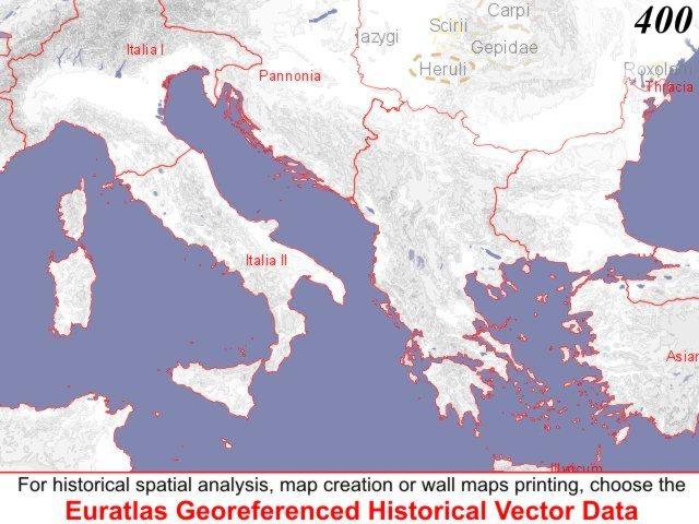 Euratlas Periodis Web Map of Europe 400 Southwest