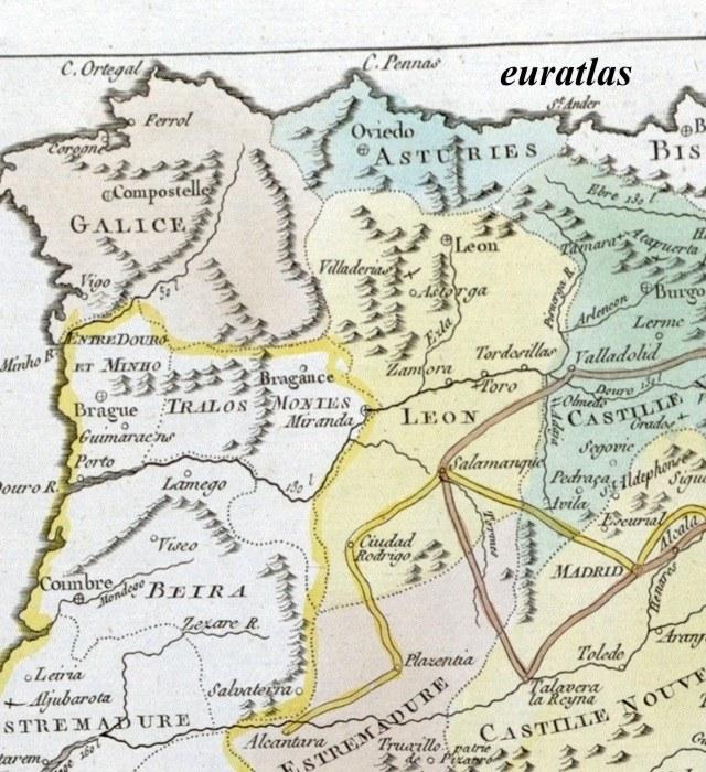 Carte Espagne Nord Est.Atlas Historique De Lesage Page 18 Carte Montrant Le Nord Est De