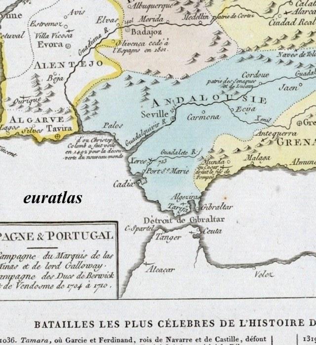 Carte Andalousie Histoire.Atlas Historique De Lesage Page 18 Carte Montrant L