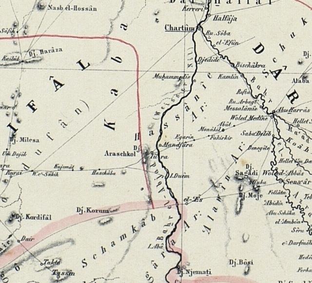 Map Of The Nile Lands White Nile And Blue Nile - Wad madani map