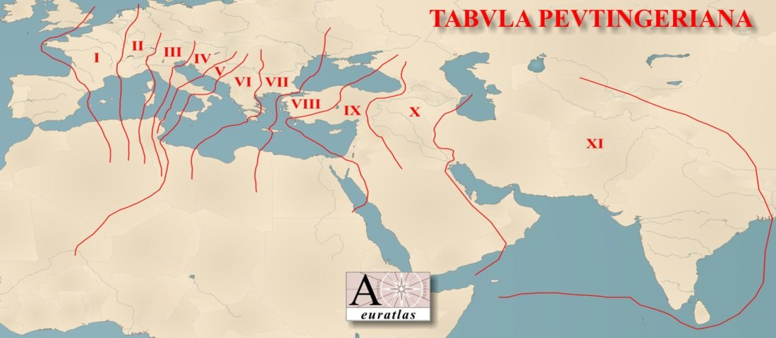 The Tabula Peutingeriana a Roman Road Map