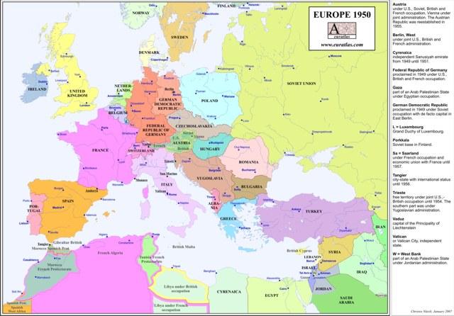 Euratlas Info: Europe 1950