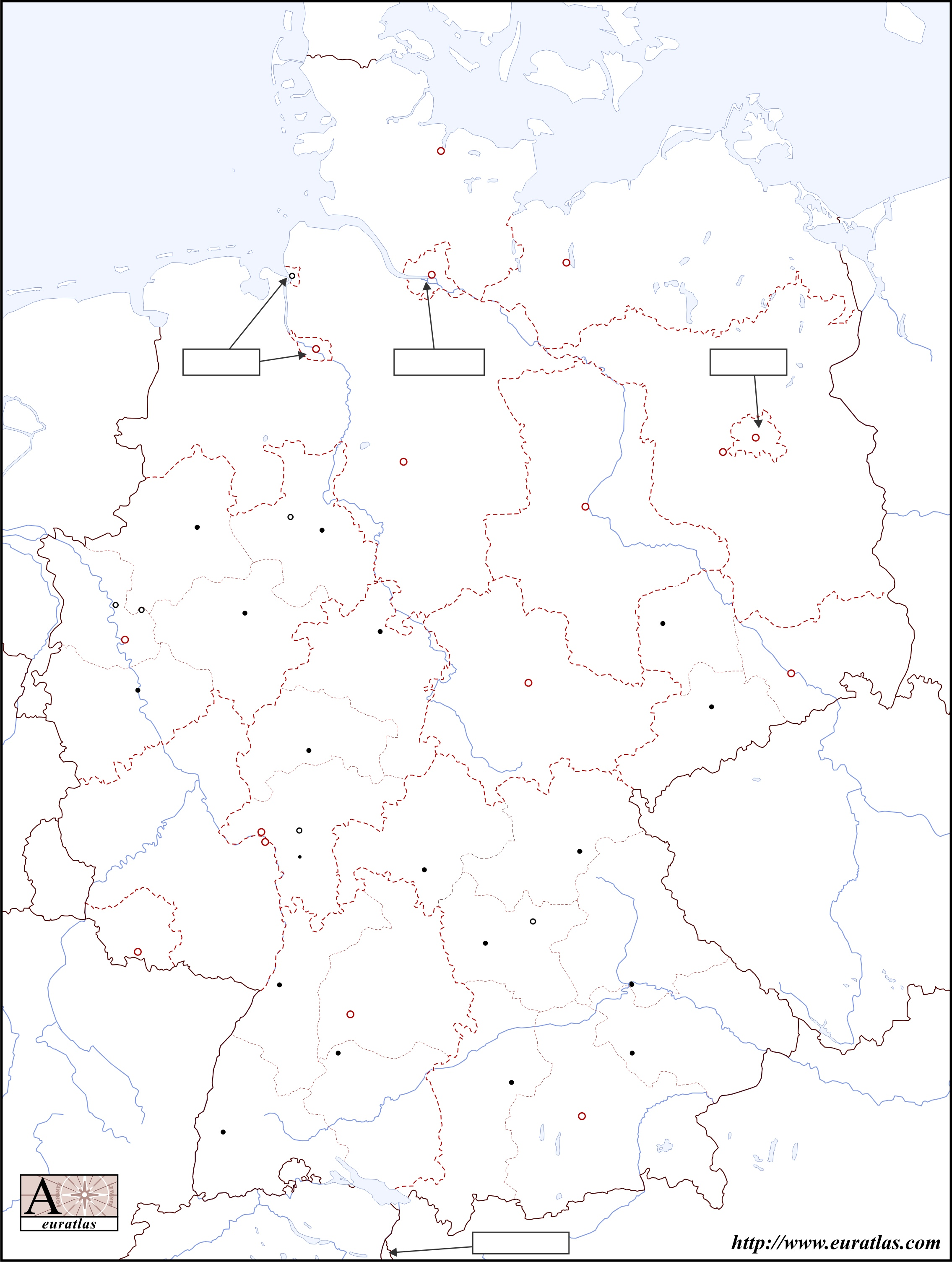 Map Of Germany To Color.Euratlas Info Member S Area Germany Blk Col