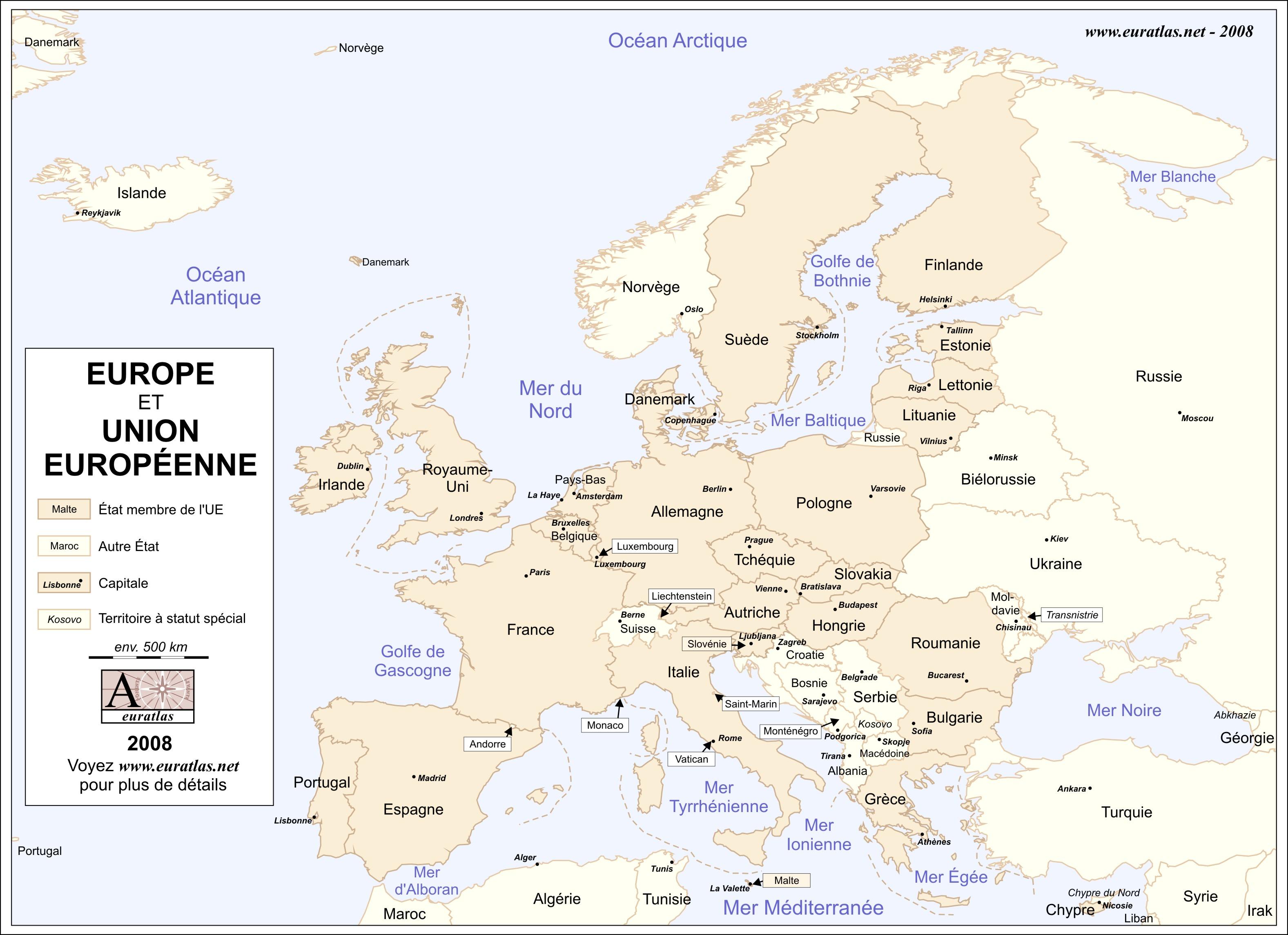 Euratlas Info Member S Area Europe U E L C Fr