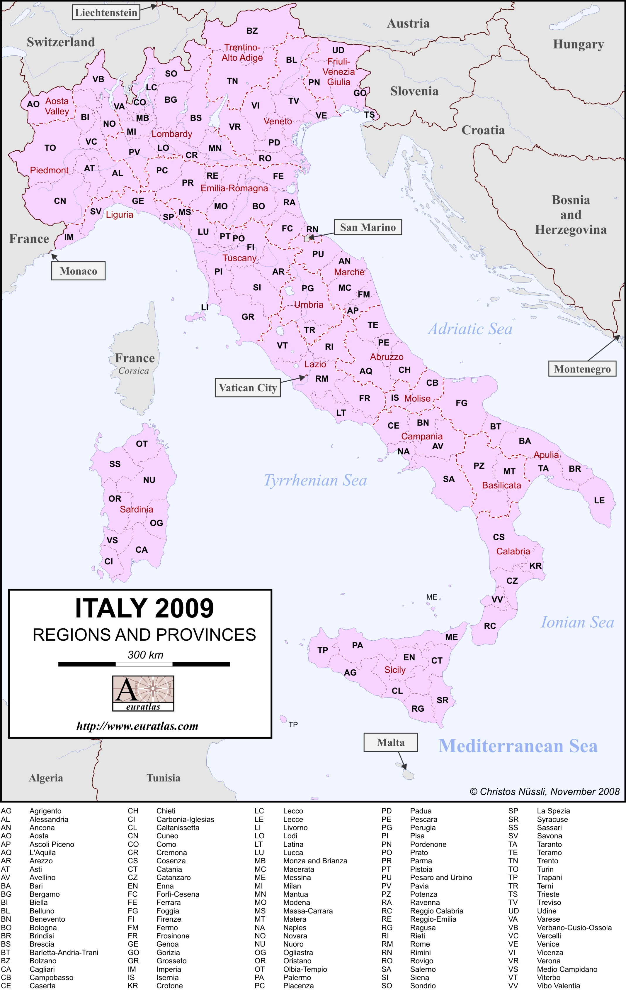 Picture of: Euratlas Info Italy 2009 With Labels In Color