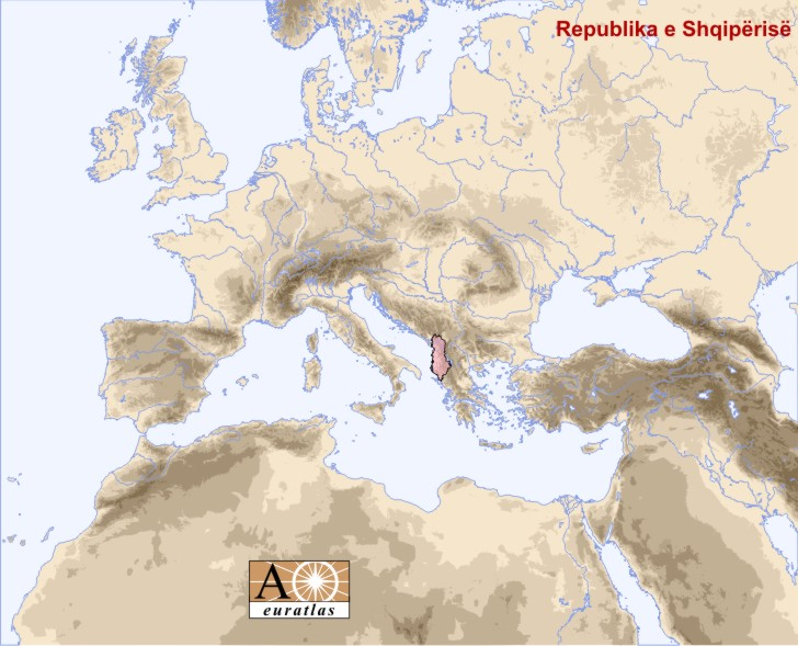 Europe Atlas the Sovereign States of Europe and Mediterranean Basin