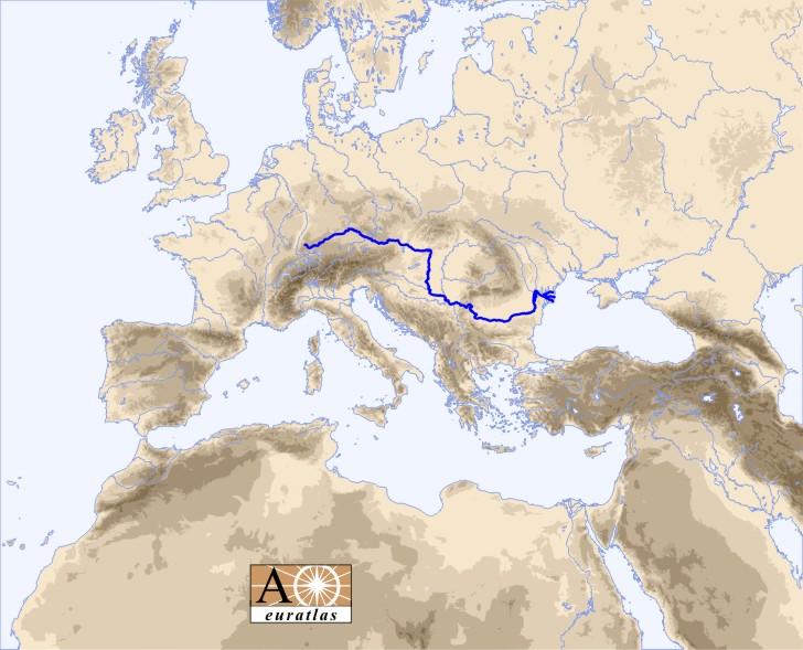 Europe Atlas The Rivers Of Europe And Mediterranean Basin Danube - River atlas