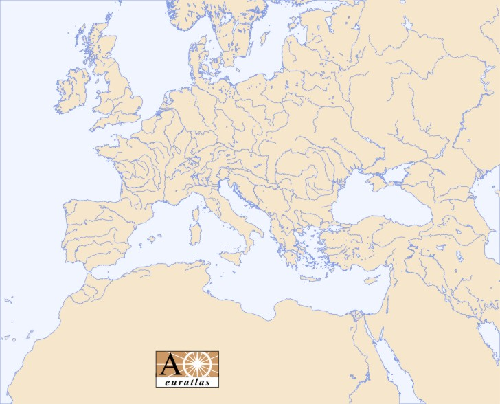 Europe Atlas The Rivers Of Europe Middle East And North Africa - African rivers by length