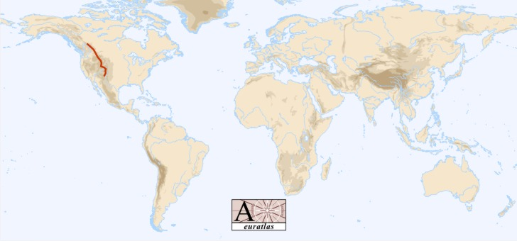 World Atlas the Mountains of the World  Rocky Mountains Rockies