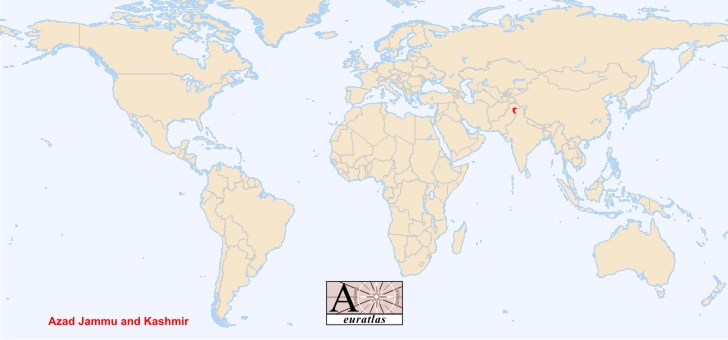 World Atlas: Special Status Territories - Azad Kashmir, Azad Jammu on indonesia on world map, rwanda on world map, khyber pass on world map, jammu on world map, jerusalem on world map, delhi sultanate on world map, orissa on world map, bangladesh on world map, pakistan on world map, philippines on world map, punjab on world map, himalayas on world map, brazil on world map, the galapagos islands on world map, chennai on world map, moscow on world map, myanmar on world map, ireland on world map, israel on world map, singapore on world map,