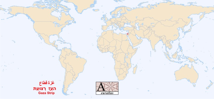 World Atlas: Special Status Territories - Gaza, Ghazzah