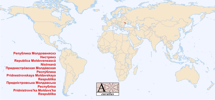 World Atlas Special Status Territories Transnistria Pridnestrovie