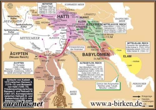 Altorient Th Century BC - Map of egypt 1300 bc