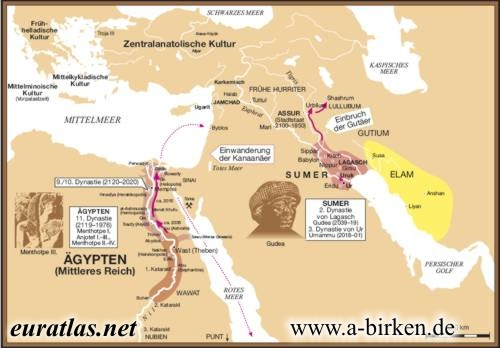 Altorient St Century BC - Map of egypt 2000 bc