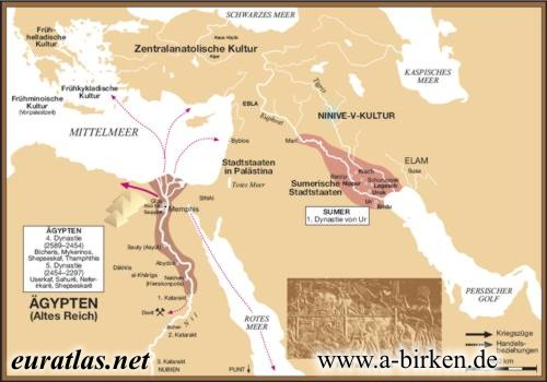 Altorient Th Century BC - Map of egypt old kingdom