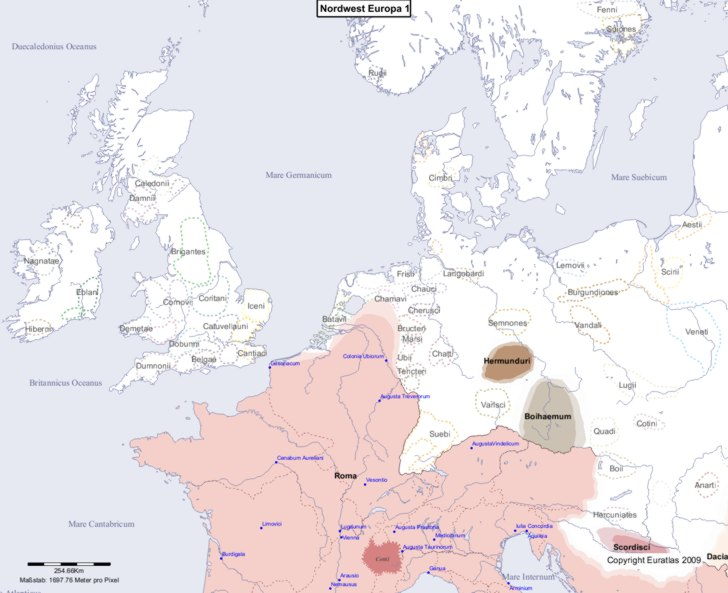 Karte von 1 Nordwest