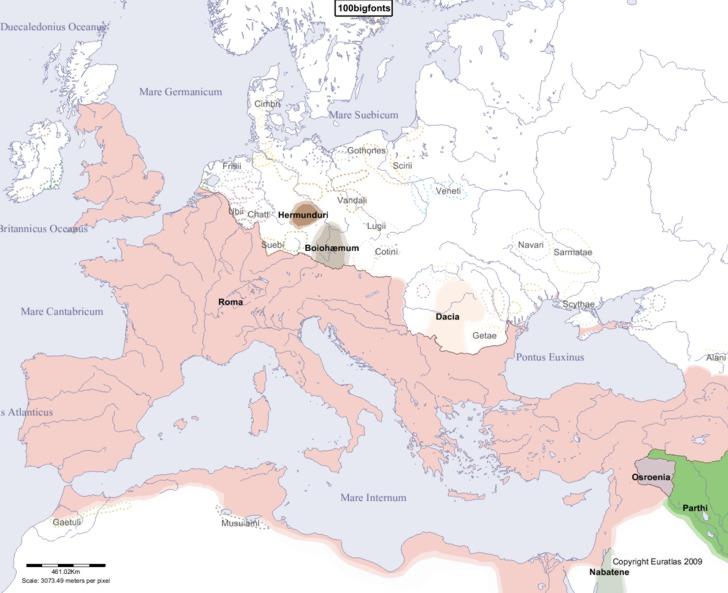 Euratlas Periodis Web Map Of Europe In Year - Europa map