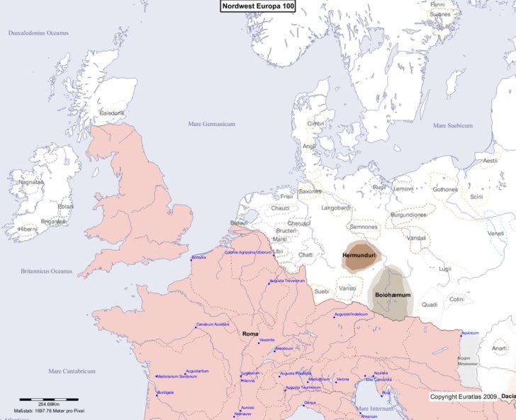 Karte von 100 Nordwest