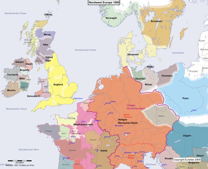 Karte von 1000 Nordwest
