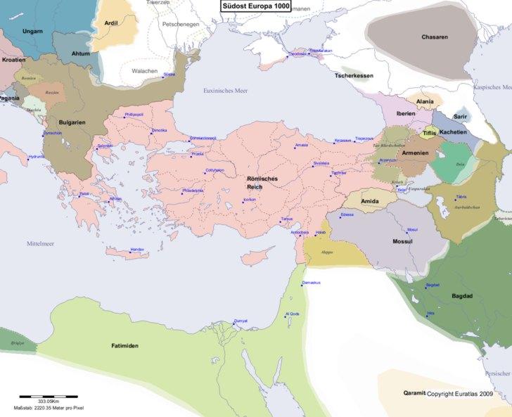 Karte von 1000 Sudost