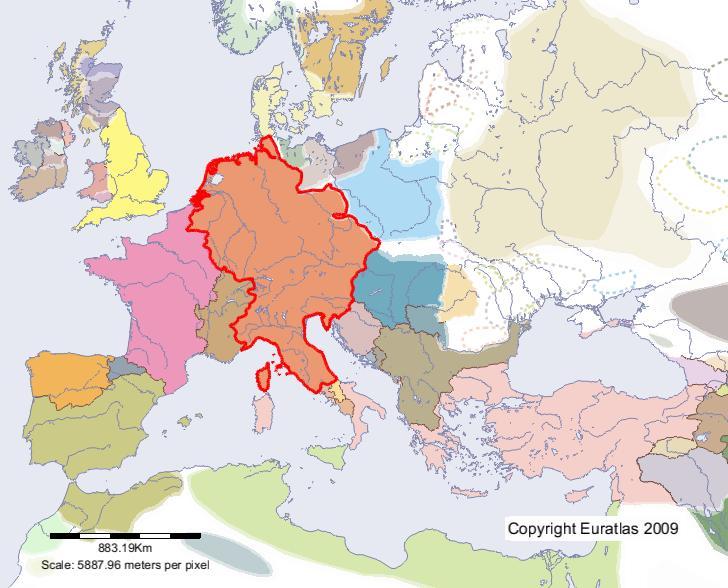 Heiliges Römisches Reich Karte.Euratlas Periodis Web Karte Von Heiliges Römisches Reich Im Jahre 1000