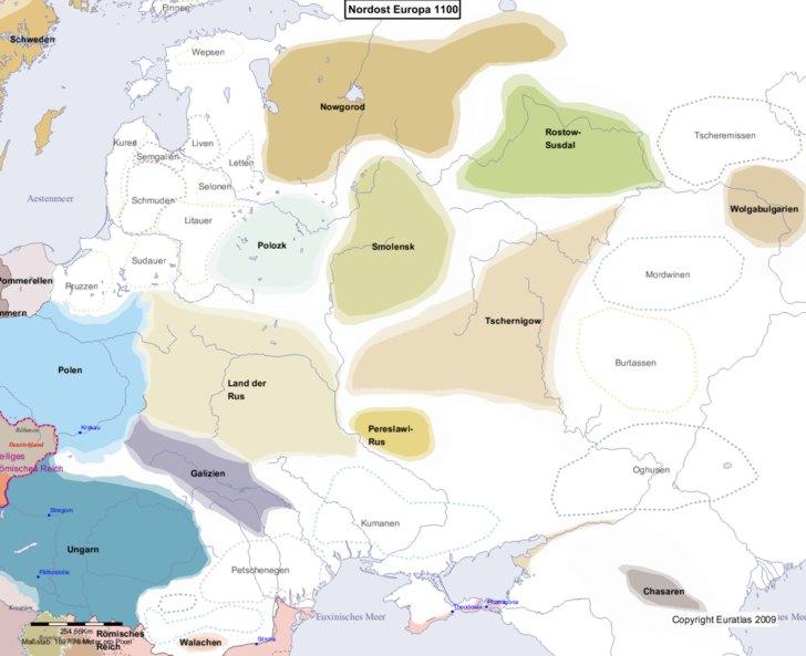 Karte von 1100 Nordost